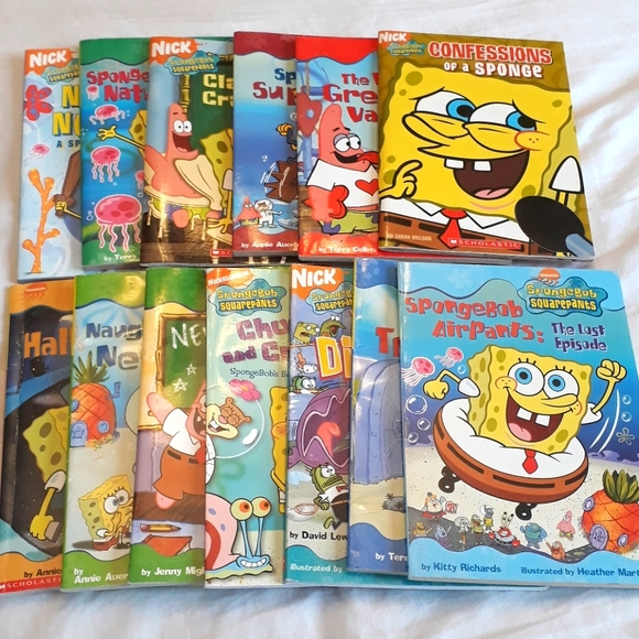 Spongebob Squarepants Books, set of 13